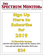 2019 Subscription to The Spectrum Monitor (12 issues: Jan-Dec 2019)