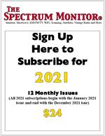 2021 Subscription to The Spectrum Monitor (12 issues Jan-Dec 2021)